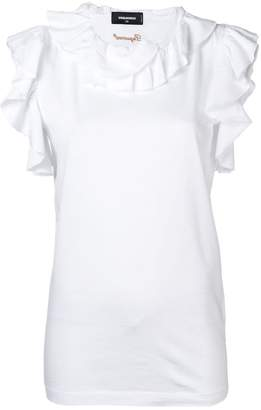 23a0bc466884d White Cotton Sleeveless Blouse - ShopStyle Australia