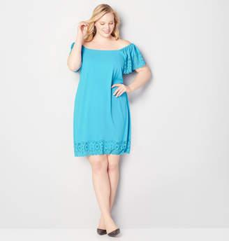Avenue Eyelet Hem A-Line Dress