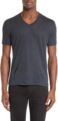 John Varvatos V-Neck Linen T-Shirt