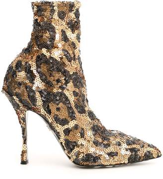 Dolce & Gabbana Lori Sequined Booties