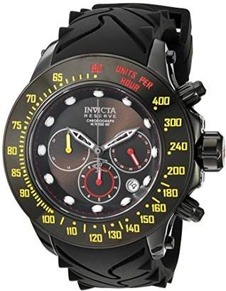 Invicta Men's 'Reserve' Swiss Quartz Stainless Steel and Silicone Casual Watch