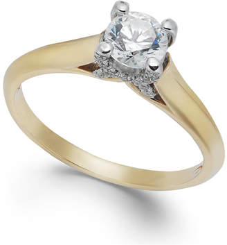 X3 Certified Diamond Engagement Ring in 18k Gold or 18k White Gold (1/2 ct. t.w.), Created for Macy's