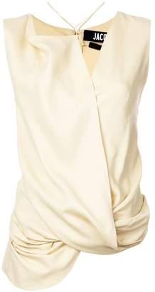Jacquemus draped knot top