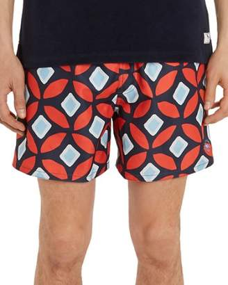 Ted Baker Sunfish Large Geo Swim Trunks
