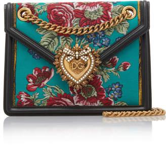 Dolce & Gabbana Mini Jacquard Tapestry Crossbody Bag