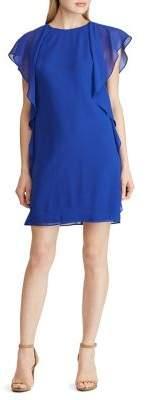 Lauren Ralph Lauren Ruffled Georgette Dress