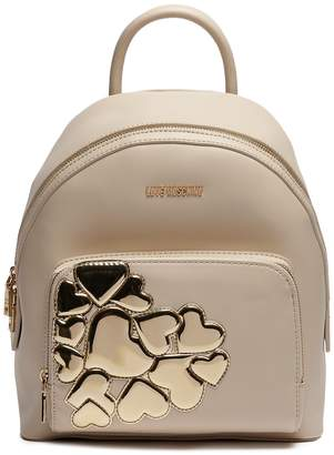 Love Moschino Metallic Hearts Backpack