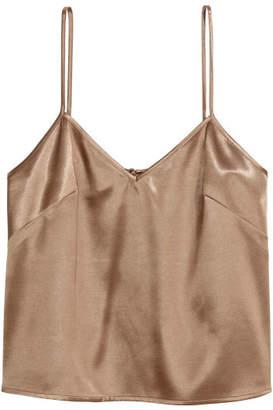 H&M V-neck Top - Brown