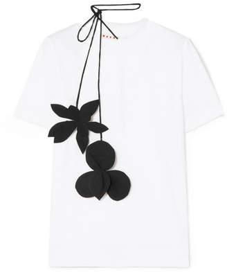 Marni Stretch-cotton Jersey T-shirt - White