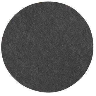 MADE Essentials Bask Set of 4 Round Felt Placemats, Charcoal