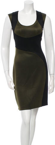 prada Prada Sheath Colorblock Dress