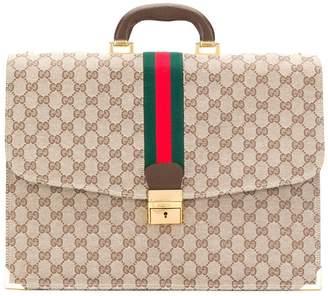 PRE-OWNED GG Supreme briefcase