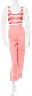 La Perla Crop High-Waist Pant Set w/ Tags $310 thestylecure.com