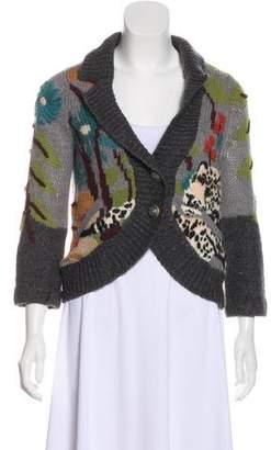 Leifsdottir Wool Jacquard Cardigan