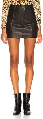 Frame Double Zip Mini Skirt