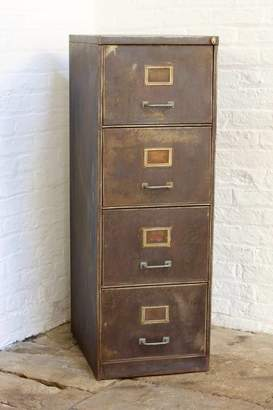 Urban Grain Tannery Vintage Four Drawer Filing Cabinet