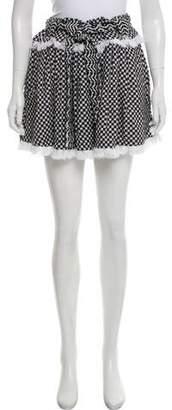 Dodo Bar Or Fringe-Trimmed Checkered Skirt