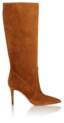 Gianvito Rossi Women's Suede Knee Boots - Med. brown