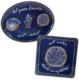 Certified International Calm Seas 2-Pc. Platter Set