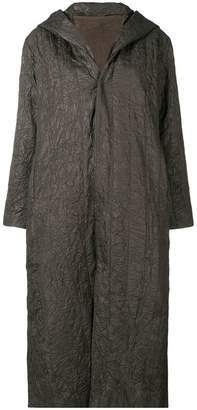Plantation hooded crinkled coat