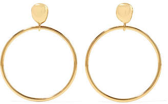 Dinosaur Designs Mineral Gold-plated Hoop Earrings - one size
