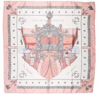 Vue Hermà ̈s Du Carrosse De Galere La Reale Silk Scarf Pink Hermà ̈s Du Carrosse De Galere La Reale Silk Scarf