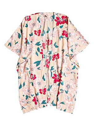 Roxy Women's Fringe and Flower 3/4 Sleeve Kimono