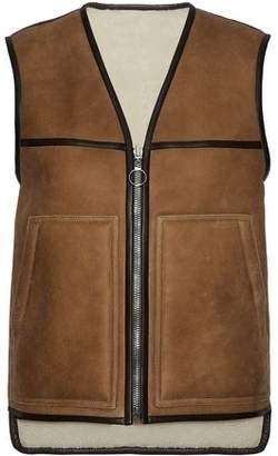 Joseph Reversible Leather-Trimmed Shearling Gilet