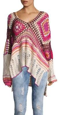 Free People Call Me Crochet Pullover