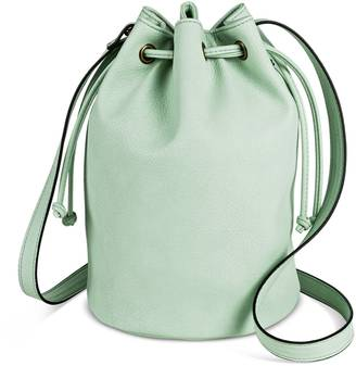 Women's Drawstring Crossbody Bucket Faux Leather Handbag - Mossimo Supply Co.... $24.99 thestylecure.com