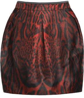 Roberto Cavalli Printed Wool-Blend Mini Skirt