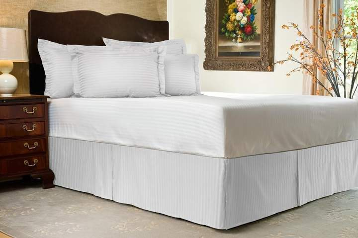 """Flying Cart Flyingcart Brand New 800-Thread-Count Egyptian Cotton 3pc """" Bed Skirt with18"""" Drop Lenth + 2pc Pillow Covers """""""