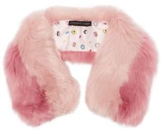 Charlotte Simone - Cuddle Cuff Faux Fur Scarf - Womens - Pink