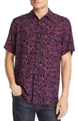 Just Cavalli Cheetah-Print Short-Sleeve Regular Fit Shirt
