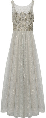 Marchesa Notte - Embellished Tulle Gown - Silver $1,285 thestylecure.com
