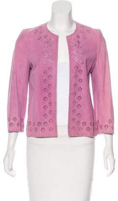 Celine Leather Laser Cut Jacket