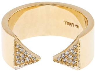 Ileana Makri White-diamond & yellow-gold pyramid ring