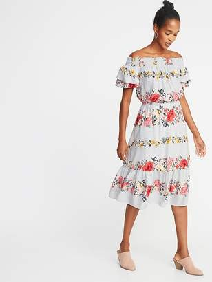 Old Navy Waist-Defined Printed Midi for Women