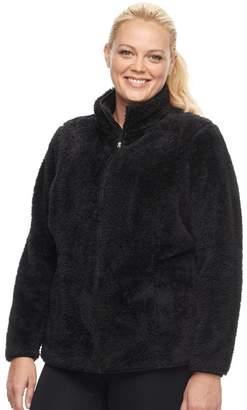 Fila Sport Plus Size SPORT Bari Sherpa Fleece Jacket