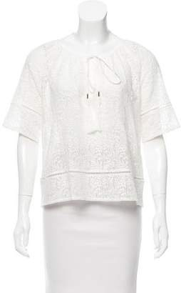 Twelfth Street By Cynthia Vincent Embroidered Oversize Top