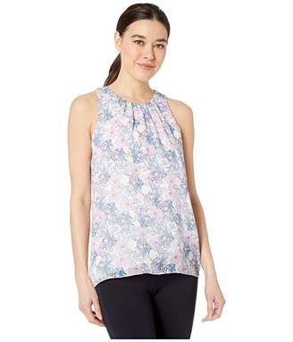 Vince Camuto Specialty Size Petite Sleeveless Charming Floral Chiffon Blouse