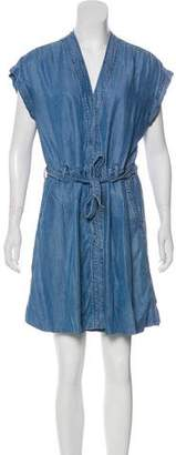 Closed Chambray Mini Dress