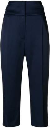Haider Ackermann high waisted cropped trousers