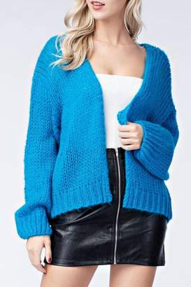 Honey Punch Electric Blue Cardigan
