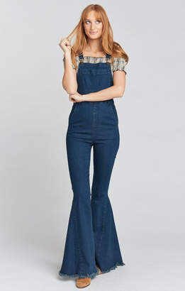 Show Me Your Mumu Berkeley Bell Overalls ~ Dark Rainstorm