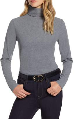 Halogen Ribbed Turtleneck