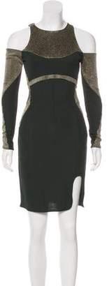 Esteban Cortazar Cold Shoulder Knee-Length Dress