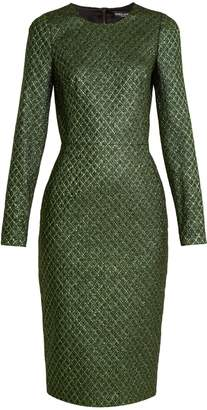 Dolce & Gabbana Long-sleeved diamond-jacquard dress