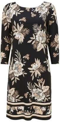 Wallis Neutral Palm Shift Dress