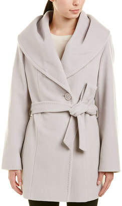 Cinzia Rocca Icons Wool & Cashmere-Blend Wrap Coat
